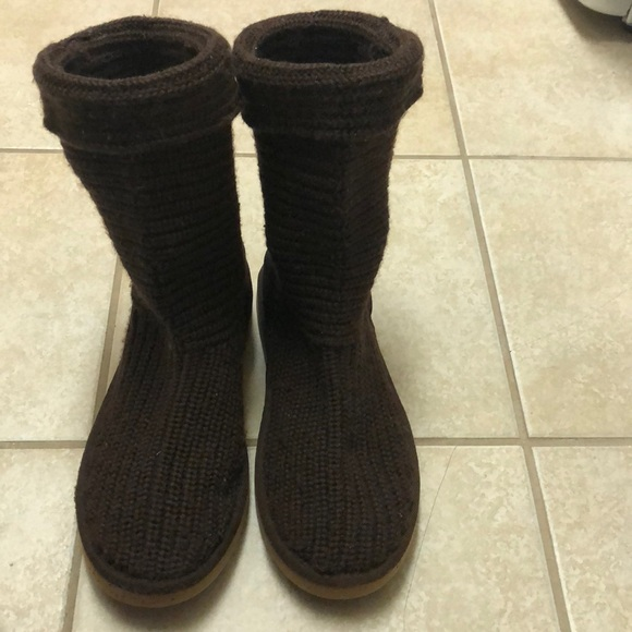 Ugg Shoes Boots Knit Fabric Poshmark